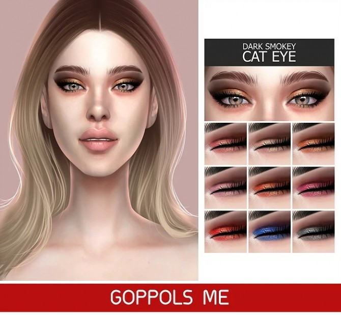 GPME Dark Smokey Cat Eye at GOPPOLS Me image 766 670x618 Sims 4 Updates