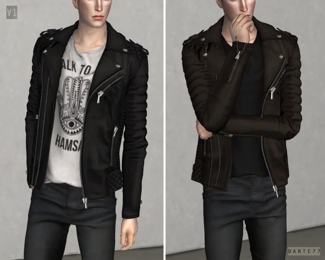 Sims 4 Biker Jacket v1 at Darte77