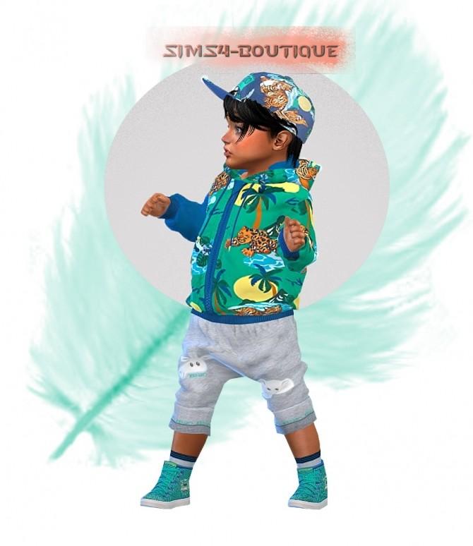 Sims 4 Jacket, Jogger Pants, Socks, Trainers & Cotton Cap at Sims4 Boutique
