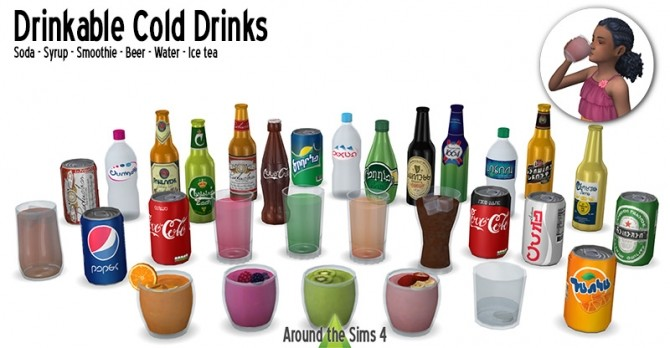 Sims 4 Cool Drinks by Sandy at Around the Sims 4