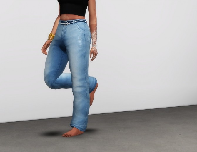 Sims 4 Mom jeans wide fit 18 colors at Rusty Nail