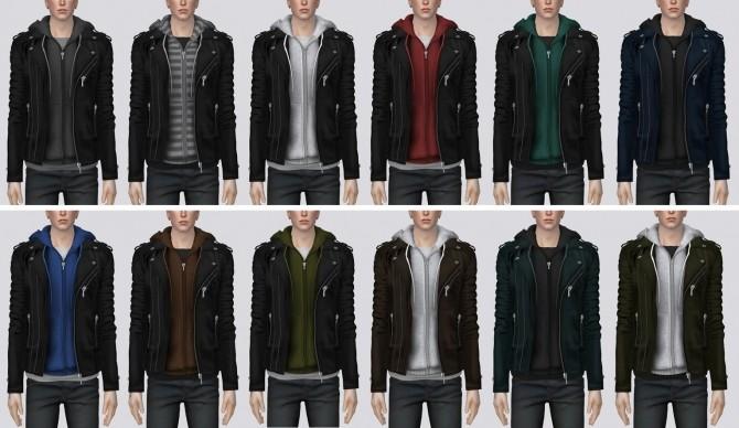 Sims 4 Biker Jacket w/ Hoodie v2 at Darte77