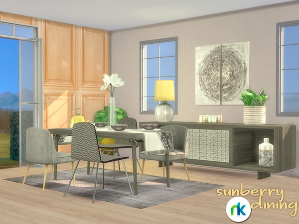 Sims 4 Sunberry Dining Room by nikadema at TSR