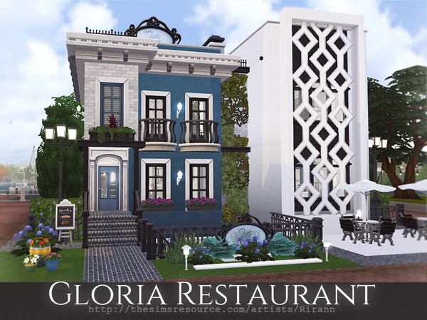 Gloria Restaurant by Rirann at TSR image 840 Sims 4 Updates