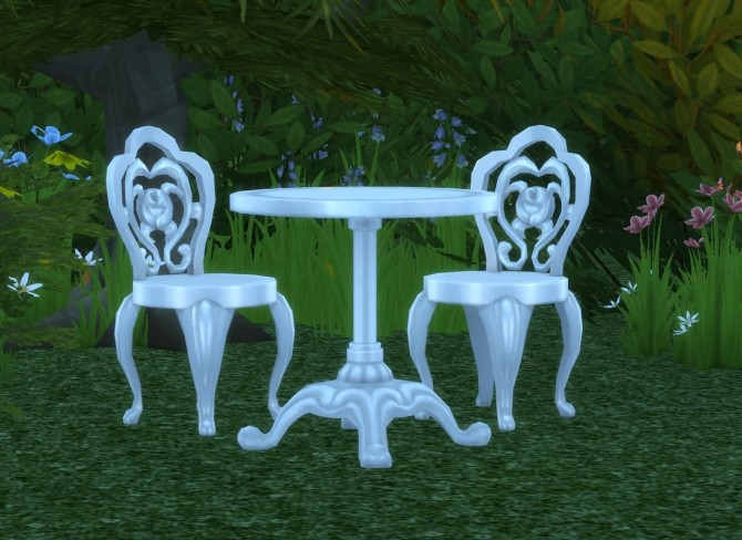 Sims 4 Cafe Garden Dining Set at Alial Sim