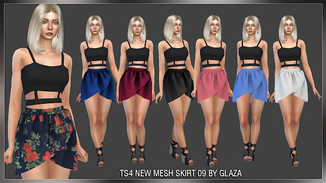 Skirt 09 at All by Glaza image 91 Sims 4 Updates