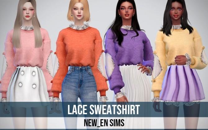 Lace Sweatshirt at NEWEN image 9121 670x419 Sims 4 Updates