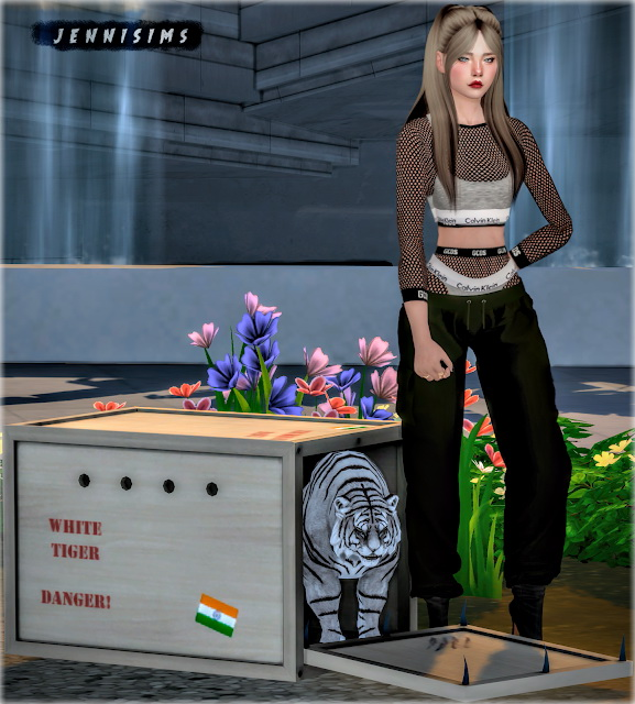 Sims 4 White Tiger set 2 Items at Jenni Sims