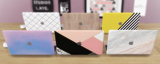 Sims 4 Functional MacBook 2017 (With Case) at Descargas Sims
