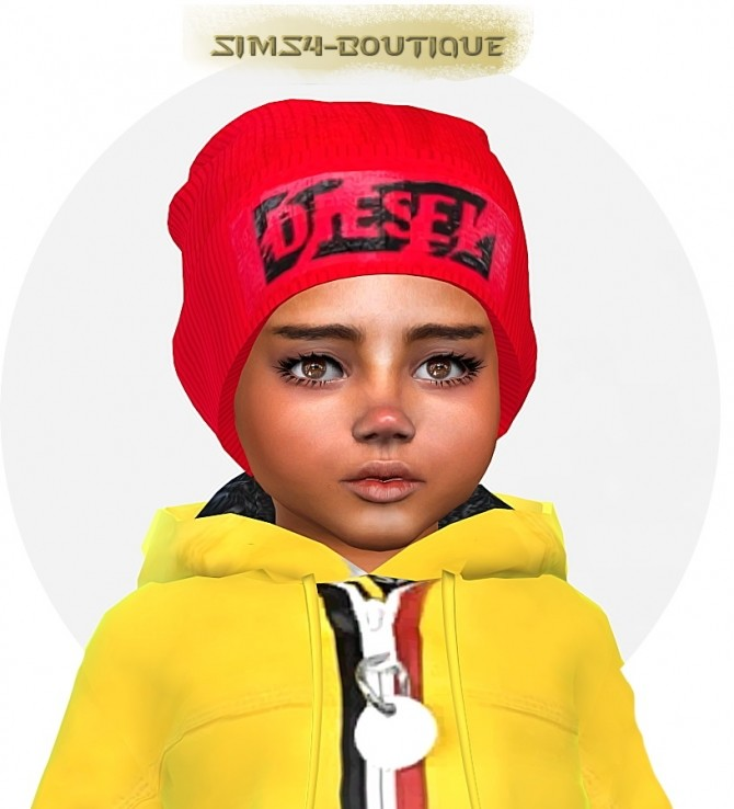 Sims 4 Jacket, beanie, jeans and sneakers T at Sims4 Boutique