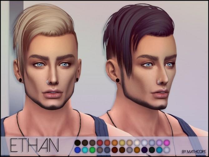 Sims 4 Ethan hair by Mathcope at Sims 4 Studio