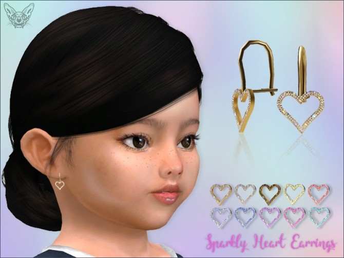Sparkly Heart Earrings For Toddlers at Giulietta image 986 670x503 Sims 4 Updates