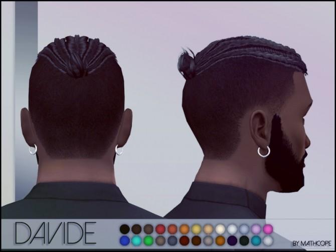 Sims 4 Davide hair by Mathcope at Sims 4 Studio