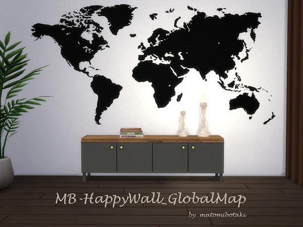 Sims 4 MB Happy Wall Global Map by matomibotaki at TSR
