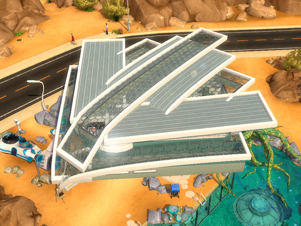 Ipsylon modern futuristic spaceship by dasie2 at TSR image 1020 Sims 4 Updates