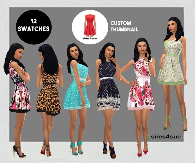SP06 LAYERED FLARE DRESS at Sims4Sue image 10210 670x559 Sims 4 Updates