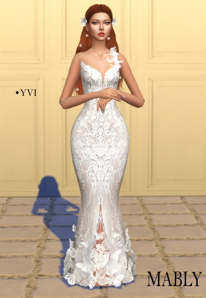 YVI wedding dress at Mably Store image 10312 670x966 Sims 4 Updates