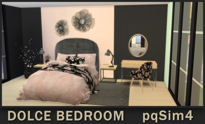 Sims 4 Dolce Bedroom at pqSims4