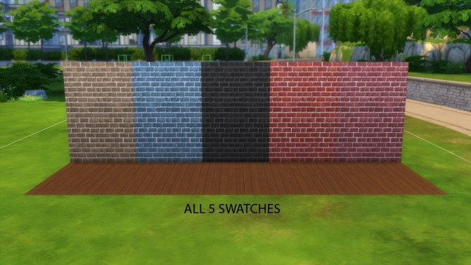 Brick walls pack by iSandor at Mod The Sims image 1034 670x377 Sims 4 Updates