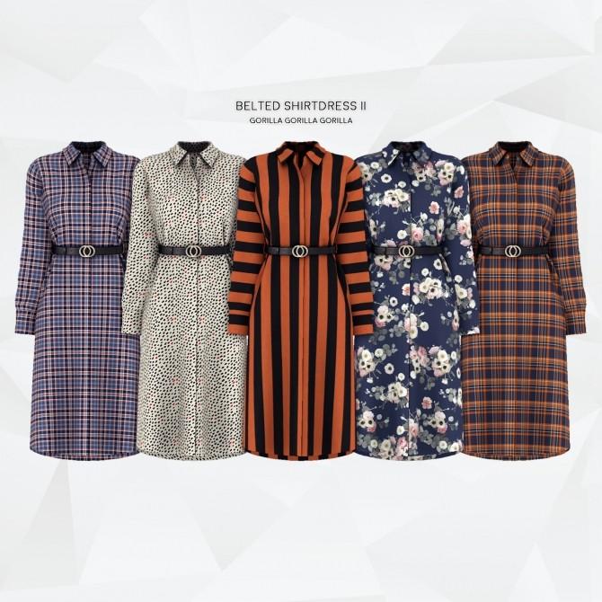Belted Shirtdress II at Gorilla image 10416 670x670 Sims 4 Updates