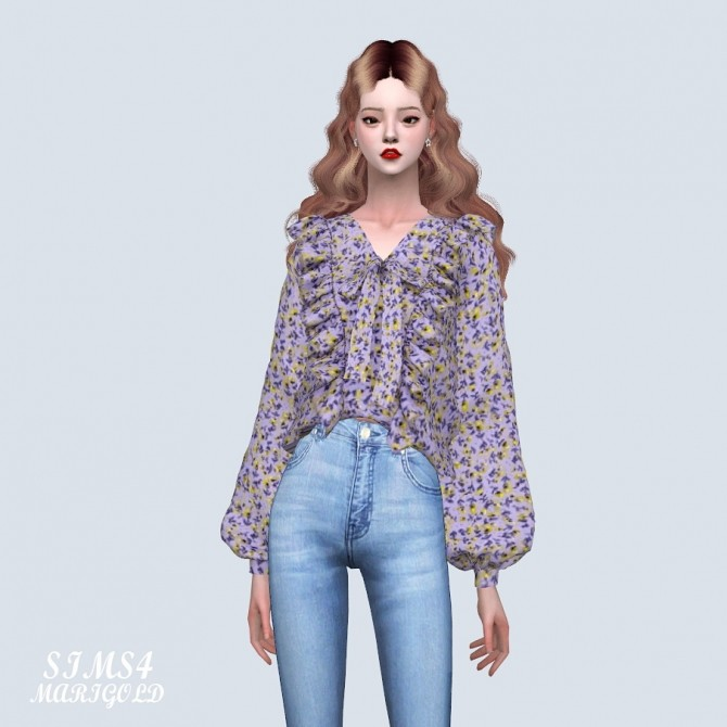 Sims 4 Spring Blouse (P) at Marigold