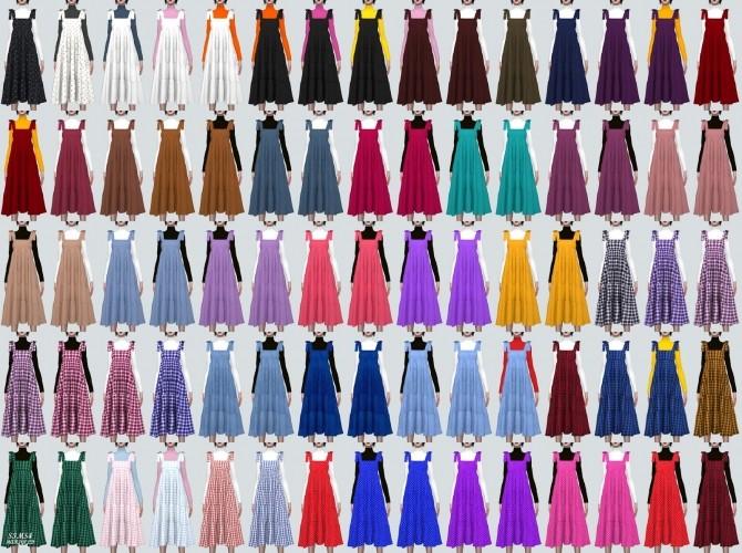 Sims 4 Ribbon Tiered Long Dress With T (P) at Marigold