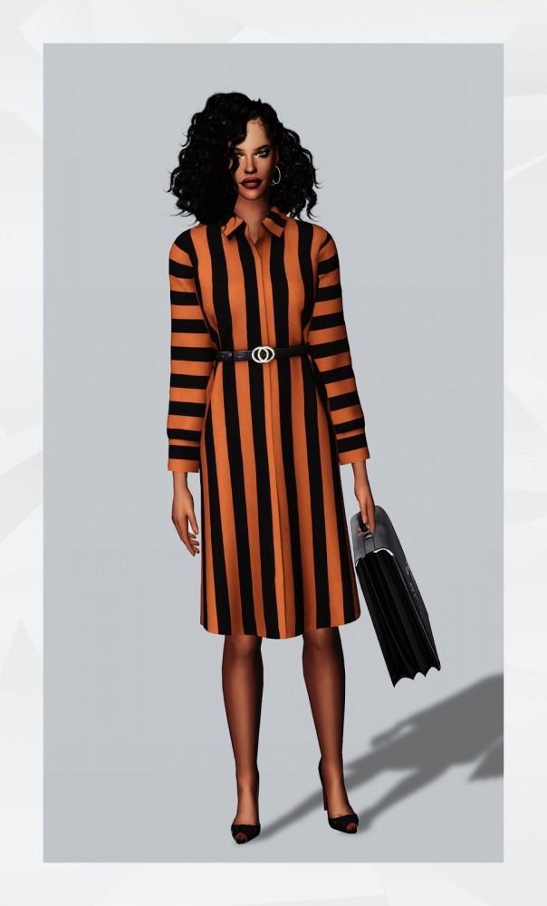 Belted Shirtdress II at Gorilla image 10516 604x1000 Sims 4 Updates