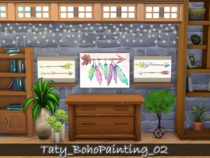 Boho paintings 02 at Taty – Eámanë Palantír image 10815 670x503 Sims 4 Updates