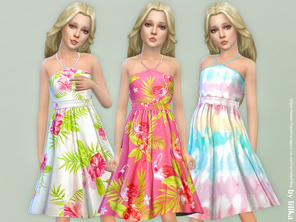 Girls Dresses Collection P120 by lillka at TSR image 1089 Sims 4 Updates