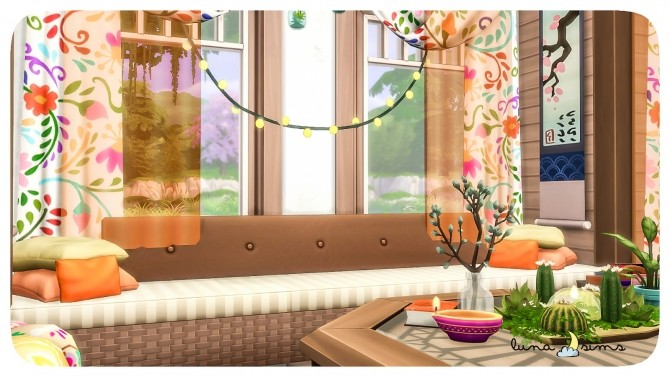 COLORFUL BOHO LIVING ROOM at Luna Sims image 10911 670x377 Sims 4 Updates