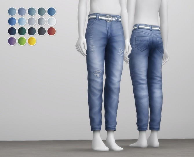 Sims 4 Mom jeans conversion for males regular fit 18 colors at Rusty Nail