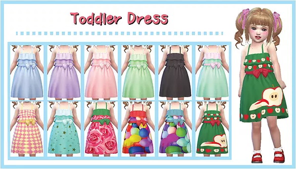Toddler Dress at A luckyday image 11011 Sims 4 Updates
