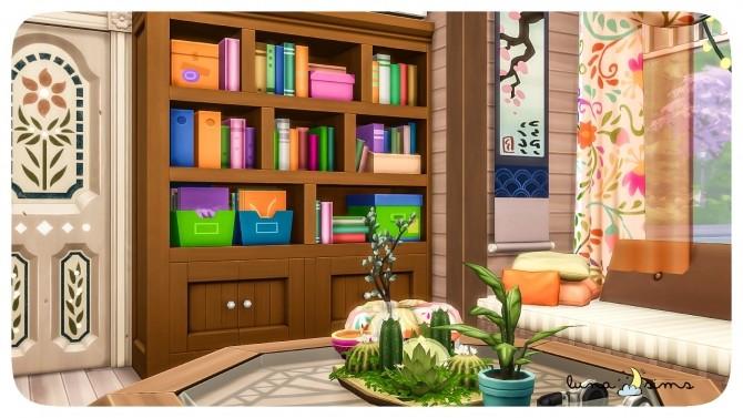 Sims 4 COLORFUL BOHO LIVING ROOM at Luna Sims