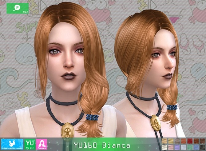 Sims 4 YU160 Bianca hair at Newsea Sims 4
