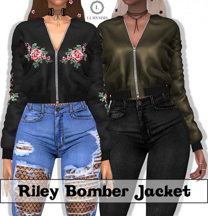 Riley Bomber Jacket at Lumy Sims image 11112 670x695 Sims 4 Updates