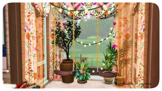 COLORFUL BOHO LIVING ROOM at Luna Sims image 11116 670x377 Sims 4 Updates