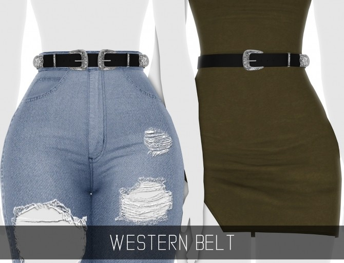 WESTERN BELT 2 VERSIONS at Simpliciaty image 11117 670x513 Sims 4 Updates