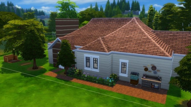 Sims 4 The decades challenge 1940s house by iSandor at Mod The Sims