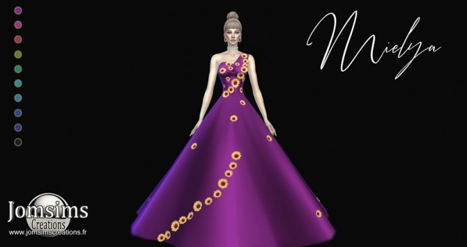 Mielya fleur dress at Jomsims Creations image 1126 670x355 Sims 4 Updates