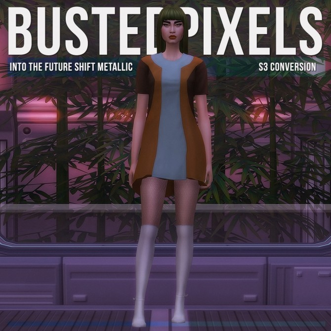 Sims 4 Into The Future Shift Metallic S3 Conversion at Busted Pixels