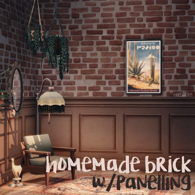 HOMEMADE BRICK WITH PANELLING & STARBOARD WITH PANELLING at Picture Amoebae image 1146 670x670 Sims 4 Updates