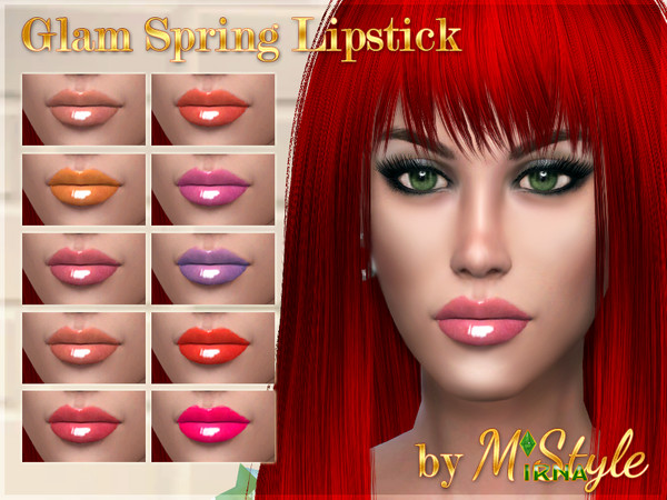 Glam Spring Lipstick Set by M`Style at TSR image 1148 Sims 4 Updates