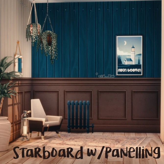 HOMEMADE BRICK WITH PANELLING & STARBOARD WITH PANELLING at Picture Amoebae image 1156 670x670 Sims 4 Updates