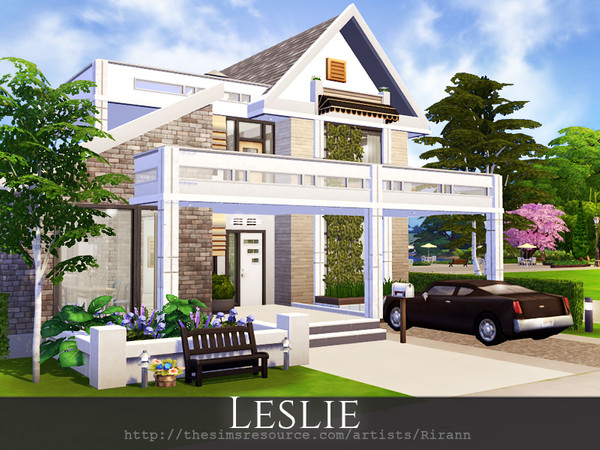 Sims 4 Leslie cosy cottage by Rirann at TSR
