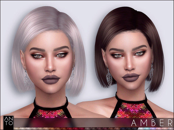 Sims 4 Amber Hairstyle by Anto at TSR