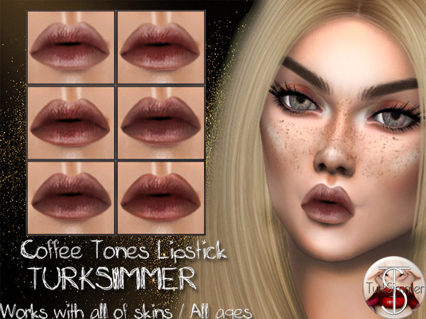 Sims 4 Coffee Tones Lipstick by turksimmer at TSR