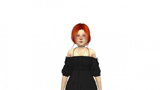 Sims 4 LEAH LILLITH BREATHIN HAIR KIDS AND TODDLER VERSION by Thiago Mitchell at REDHEADSIMS