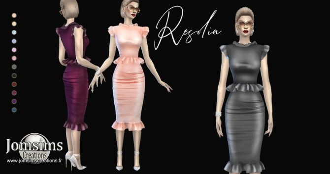Resolia dress at Jomsims Creations image 1206 670x355 Sims 4 Updates