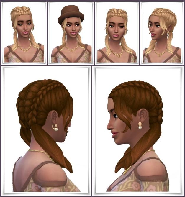 Sims 4 Side Bangs Braids at Birksches Sims Blog