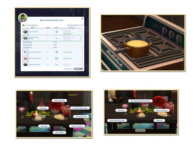 SHRIMP SCAMPI WITH LINGUINE at Icemunmun image 1228 670x528 Sims 4 Updates